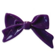 45mm DARK PURPLE Bright Bowknot Flatback Bow Cabochon